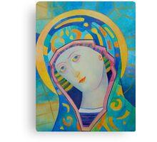 Queen of Heaven, Madonna Virgin Mary icon Canvas Print