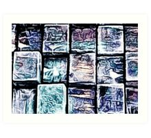 'Gum Bricks' - Iced Chewing Gum in Abstract Art Print