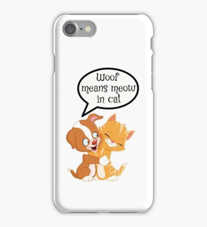 Cat and dog together iPhone Case/Skin