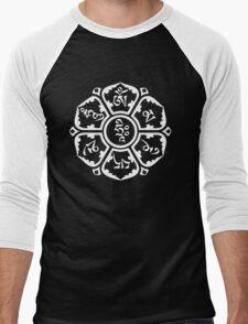 Om Mani Padme Hum (white on dark) Men's Baseball ¾ T-Shirt