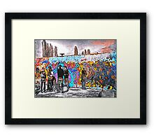 'Graffiti Street' - Abstract Graffiti Art Framed Print