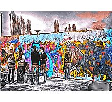 'Graffiti Street' - Abstract Graffiti Art Photographic Print