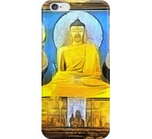 'Golden Buddha' - Gold Buddha Statue iPhone Case/Skin