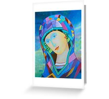Lady of Guadelupe icon hand made in oil Greeting Card