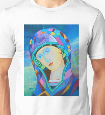 Lady of Guadelupe icon hand made in oil Unisex T-Shirt