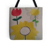 Oil Pastel Flower Picture Tote Bag