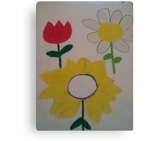 Oil Pastel Flower Picture Canvas Print