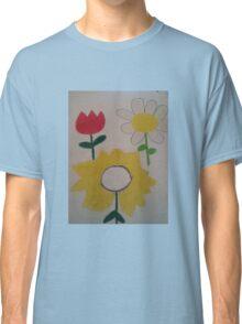 Oil Pastel Flower Picture Classic T-Shirt