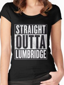 Straight Outta Lumbridge Women's Fitted Scoop T-Shirt