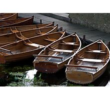 Rowing Boats For Hire Photographic Print