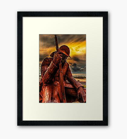 Seaham Tommy - Tired of War Framed Print