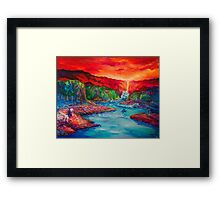Arwen Rescues Frodo from the Nazgul Framed Print