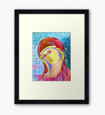 Holy Mary with Child byzantine icon Framed Print