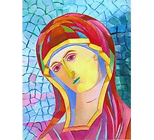 Holy Mary with Child byzantine icon Photographic Print
