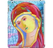 Holy Mary with Child byzantine icon iPad Case/Skin