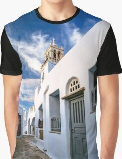 Traditional alleyway in Tinos Graphic T-Shirt