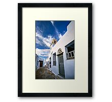 Traditional alleyway in Tinos Framed Print