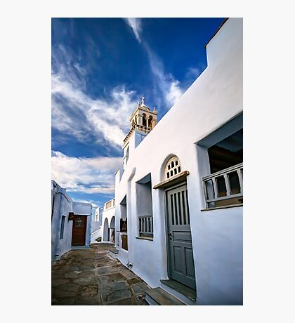 Traditional alleyway in Tinos Photographic Print