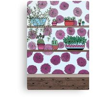 Plants versus flowers Canvas Print
