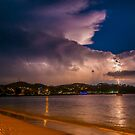 Thunderstorm over Nelson Bay, Australia by Erik Schlogl
