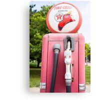 Historic gasoline pump, Sky Chief Canvas Print