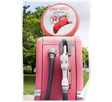 Historic gasoline pump, Sky Chief Poster