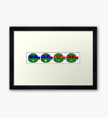 Emoji's TMNT Framed Print