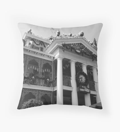 Haunted Mansion Photograph  Throw Pillow
