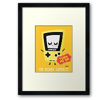 Horny Gameboy (yellow) Framed Print
