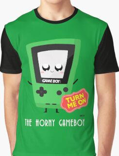 Horny Gameboy (green) Graphic T-Shirt