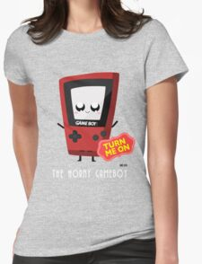 Horny Gameboy (red) Womens Fitted T-Shirt