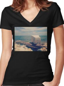 Oceanside PC Women's Fitted V-Neck T-Shirt