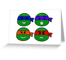 Emoji's TMNT v2 Greeting Card