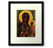 Virgin Mary Black Madonna of Czestochowa Framed Print