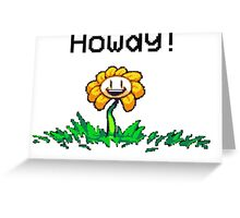 UnderTale Flowey The Flower! Greeting Card