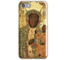 Black Madonna icon christian catholic art. Polish art iPhone Case/Skin
