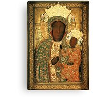 Black Madonna icon christian catholic art. Polish art Canvas Print