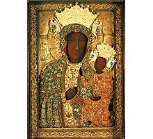 Black Madonna icon christian catholic art. Polish art Photographic Print