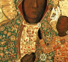 Polish Black Madonna Icon, Christian Catholic art. Our Lady of Czestochowa wall art Sticker