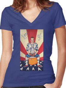 Tom Brady: Soft Balls Hard Trophy Women's Fitted V-Neck T-Shirt
