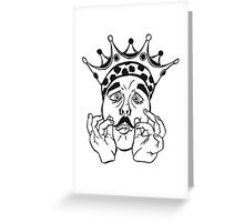 Kingstache  Greeting Card