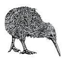 Kiwi BW by weirdbird