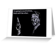 Alan Rickman- Deadly Countdown Greeting Card