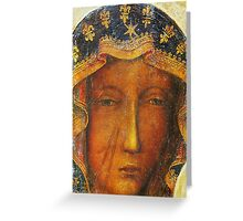 Our Lady of Czestochowa, Black Madonna Poland, Catholic icon Greeting Card