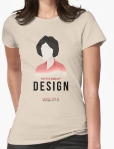 With great design... Womens Fitted T-Shirt