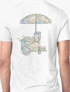 New York City subway map on a hotdog stand T-Shirt