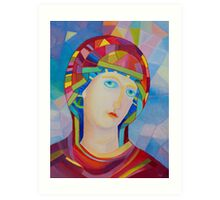 Madonna Virgina Maria icon Art Print