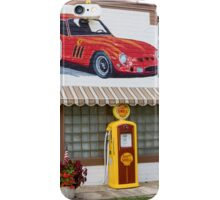 Restored Route 66 garage at Dwight. iPhone Case/Skin