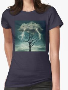 Dramatic storm Womens Fitted T-Shirt