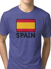 National Flag of Spain Tri-blend T-Shirt